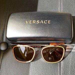 Versace orange & tortoiseshell sunglasses